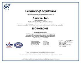 Aactron.ISO-9001-2015Cert.NSF-ISR.5Z941-IS7.2020