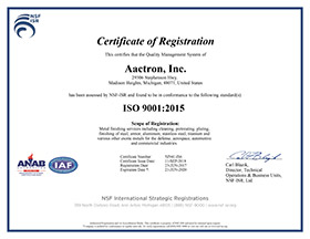 ISO-9001:2015 Certification